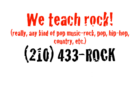 We teach rock!
